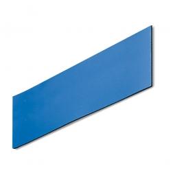 Magnetschilder, VE = 50 Stück, blau, Zuschnitt BxH 100 x 30 mm, Materialstärke: 0,9 mm