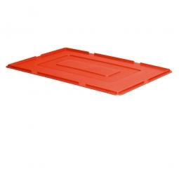 Auflagedeckel für Euro-Stapelbehälter, LxB 600 x 400 mm, 900 g, rot