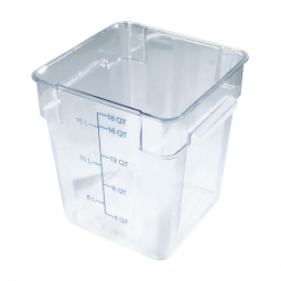 Transparenter Vorratsbehälter, glasklares Polycarbonat, lebensmittelecht,  17 Liter