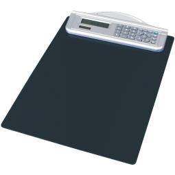 Schreibplatte mit Solarrechner, schwarz, HxB 335x215 mm