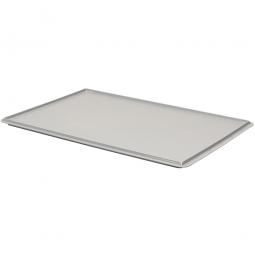 Auflagedeckel für Euro-Stapelbehälter, LxB 600 x 400 mm, grau