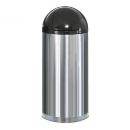 Push-Abfallbehälter, 56 Liter, Edelstahl