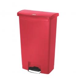 Tretabfalleimer SlimJim, 68 Liter, rot, LxBxH 500x311x803 mm, Polyethylen, Pedal an der Breitseite