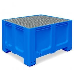 Abtropfbecken, Farbe blau, Material PE-HD, Volumen 610 Liter, LxBxH 1200x1000x760 mm