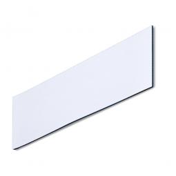 Magnetschilder, VE = 50 Stück, weiß, Zuschnitt BxH 150 x 50 mm, Materialstärke: 0,9 mm