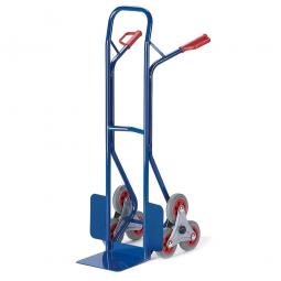 Treppenkarre aus Stahl, Vollgummibereifung, LxBxH 1300x580x630 mm, Tragkraft 150 kg