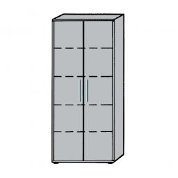 Büroschrank, 5OH, Lichtgrau, HxBxT 1880x800x345 mm