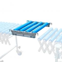 Verbindungsstück für Scheren-Rollenbahnen mit Kunststoff-Tragrollen, Bahnbreite 600 mm