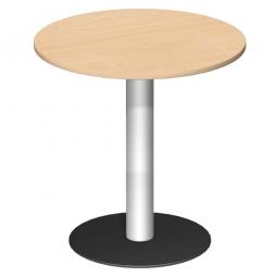 Rundtisch, Tischplatte Ahorn ØxH 900 x 1100 mm