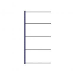 Fachboden-Steck-Anbauregal, kunststoffbeschichtet, HxBxT 2500 x 1235 x 315 mm, mit 5 Fachböden
