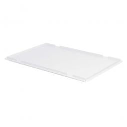Auflagedeckel für Euro-Stapelbehälter, LxB 600 x 400 mm, Farbe weiß
