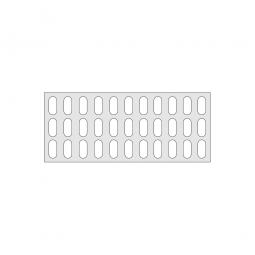 Gitterregalboden aus Kunststoff (Polystyrol), BxT 1150 x 480 mm, bestehend aus 2 Bodensegmenten