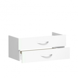 Schubladenset FLEX, weiß, Breite 800 mm, hochwertige Metallgriffe in silbermatt