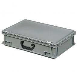 Euro-Koffer, LxBxH 600x400x165 mm, grau, mit 1 Tragegriff auf einer Längsseite