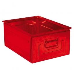 Stapelkasten ST0 aus Stahlblech, 80 Liter, LxBxH 630 x 450 x 300 mm, rot