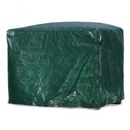 Abdeckhaube für Gitterbox, grün, LxBxH 1250x850x980 mm, Materialstärke 120 g/qm