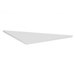 Verkettungsplatte ELEGANCE Dreieck 90°, Dekor Lichtgrau, BxT 800x800 mm