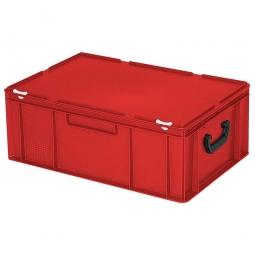 Euro-Koffer, LxBxH 600x400x230 mm, rot, mit 2 Tragegriffen auf den Stirnseiten