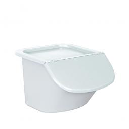 Zutatenbehälter / Zutatenspender, 15 Liter, LxBxH 440 x 400 x 280 mm, weiß/weiß