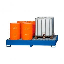 Auffangwannne für Tankcontainer, lackiert, BxTxH 2650x1300x435 mm, Unterfahrhöhe 100 mm