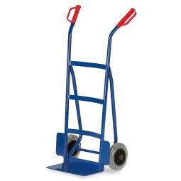 Stahlrohrkarre mit Vollgummibereifung, Höhe 1200 mm, Tragkraft 250 kg