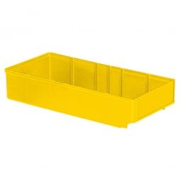 Regalkasten, gelb, LxBxH 400x186x83 mm, Polystyrol-Kunststoff (PS), Gewicht 340 g