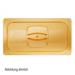 Auflagedeckel für Schale GN1/4, LxB 265x162 mm, Ultem-Kunststoff, bernsteinfarben