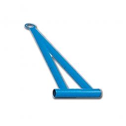 Zugdeichsel für Universal-Corletten, Länge 600 mm, mit Ring, Ø 35 mm, für alle Modelle