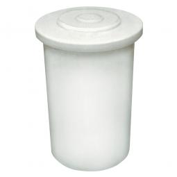 Salzlösebehälter mit Deckel, Inhalt 500 Liter, Außen-ØxH 860/980x1040 mm, natur-transparent
