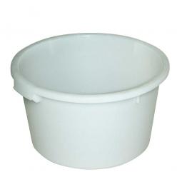 Rundbehälter, 60 Liter, Ø 590/470, Höhe 335 mm, weiß
