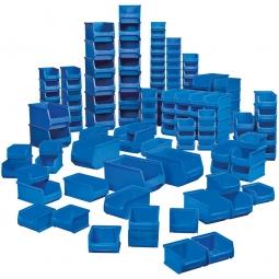 100-teiliges Sichtboxen-Set PROFI, PP, blau, XXL-Set 1