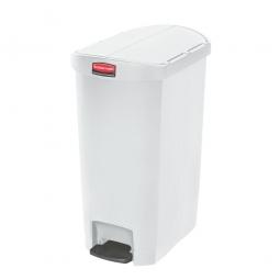 Tretabfalleimer SlimJim, 50 Liter, weiß, LxBxH 528x344x721 mm, Polyethylen, Pedal an der Schmalseite
