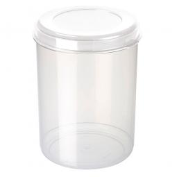Lebensmitteldose, 5 Liter, ØxH 180x250 mm, Dose glasklar, Deckel weiß