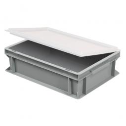 Scharnierdeckel für Euro-Geschirrkasten, LxB 400x300 mm, weiß, Gewicht 450 g