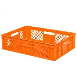 Eurobehälter mit 4 Durchfassgriffen LxBxH 600 x 400 x 150 mm, 27 Liter, orange