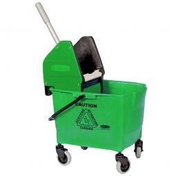 Reinigungswagen mit Mopp-Presse, grün