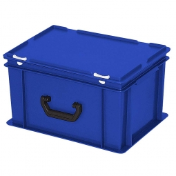 Euro-Koffer, LxBxH 400x300x230 mm, blau, mit 1 Tragegriff auf einer Längsseite