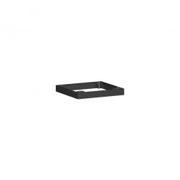 Metallsockel, schwarz, BxH 400x50 mm, mit Bodenausgleichsfüßen