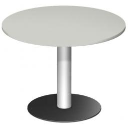 Rundtisch, Tischplatte lichtgrau ØxH 1000 x 720 mm