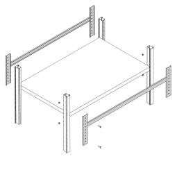 Steckregal-Aussteifungstraverse, 1200 mm lang, Oberfläche kunststoffbeschichtet in Farbe lichtgrau RAL 7035