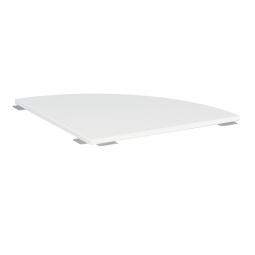 Verkettungsplatte ELEGANCE Viertelkreis 90°, Dekor Weiß, BxT 800x800 mm