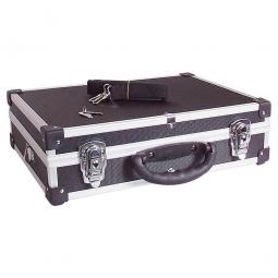 Alu-Koffer,Größe L,schwarz, LxBxH 430x290x120 mm, Abschließbar, stabil und temperaturbeständig
