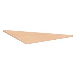 Verkettungsplatte, Dreieck 90° Komfort, Dekor Buche, BxT 800x800 mm