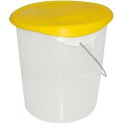 Runder Lebensmittelbehälter, Inhalt 21 Liter, HxØ 330x355 mm, mit Massskala