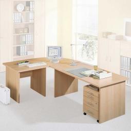 Schreibtischkombination, 4-teilig, Stellmaß LxB 2400x1600 mm
