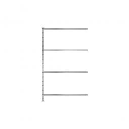 Fachbodenregal - Pro -Anbauregal, glanzverzinkt, HxBxT 2000x1210x410 mm, mit 4 Fachböden