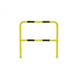 Stahl-Schutzbügel, HxB 1000 x 1000 mm, Gebogenes Stahlrohr mit zusätzlicher Knieleiste, Rohr-Ø: 48 mm