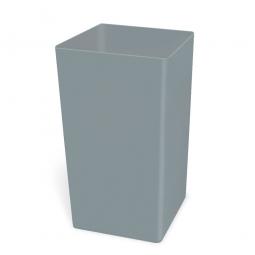 Abfallbehälter, rechteckig, 132 Liter, Polyethylen-Kunststoff, BxTxH 495 x 495 x 700 mm, Farbe grau