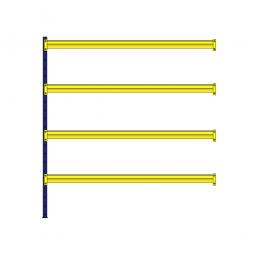Weitspann-Steck-Anbauregal, mit 4 Holzbodenebenen, HxBxT 2500 x 2340 x 605 mm, Holzböden 25 mm stark, naturbelassen