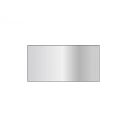 Fachboden für Steckregal, glanzverzinkt, Tragkraft 330 kg, BxT 1000 x 500 mm, mit 4 Fachbodenträgern
